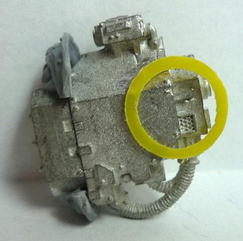 Detalle de la forma circular con plasticard